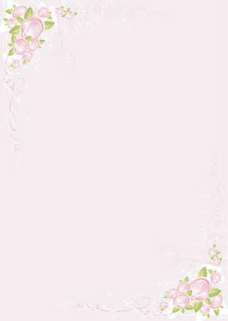 pink border: Background with roses,vector illustration