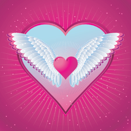 Pink heart,vector illustration Vector