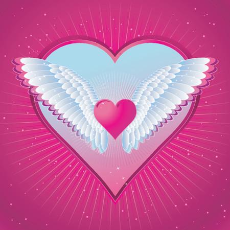 pink heart: Pink heart,vector illustration