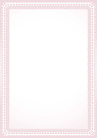 charter: background with frame of hearts,vector illustration
