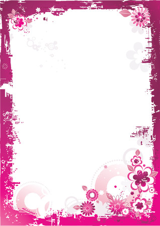 Pink background with flower,vector illustration Vector