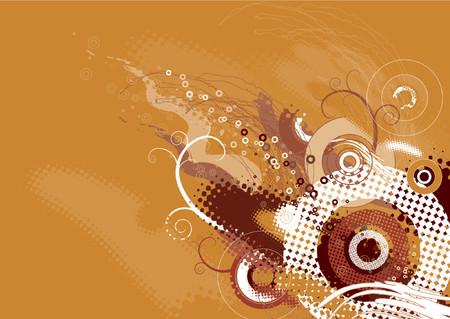 grunge background with many shapes,vector illustration Illustration