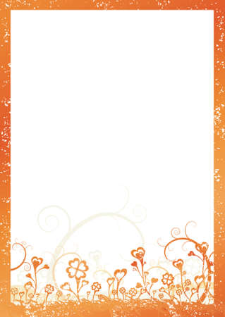 charter: Valentines background with frame of hearts, vector