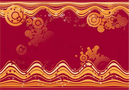 Modern red  background, vector illustration Vector