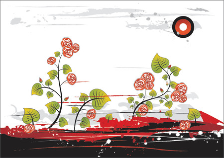 Background with many roses on white background,vector illustration Stock Vector - 964186