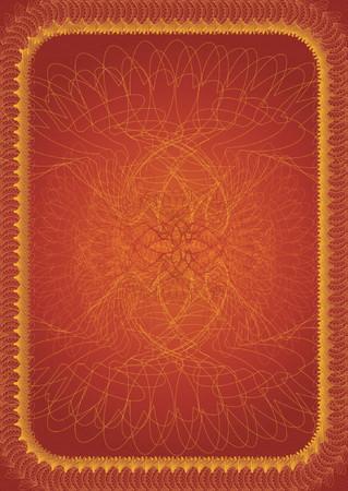 charter: red christmas certificate,vector illustration Illustration