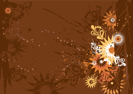 Grunge background with many different  circles, shapes, star, vector illustration Vector