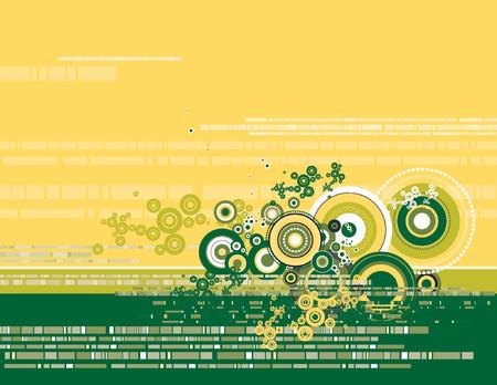 Modern yellow background, vector illustration