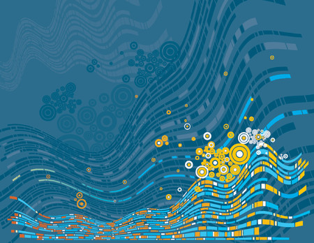 Modern blue background, vector illustration Illustration