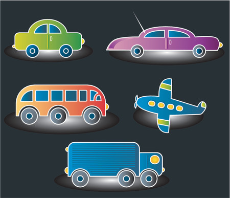 automobile, truck, plane, bus Stock Vector - 979601