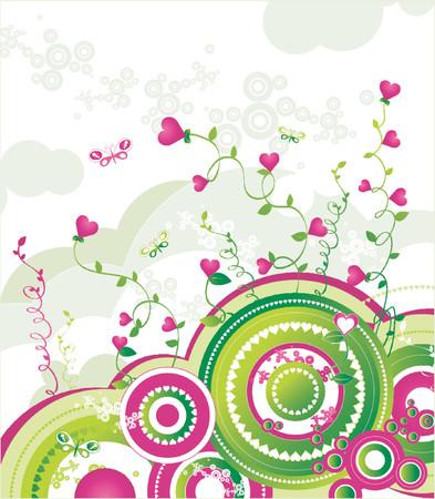 artwork, background, butterfly, celebrate, celebration, circle, decoration, decorative, design, february, green, heart, holiday, illustration, love, pink, romance, romantic, saint, valentine, valentines, vector, white Vector