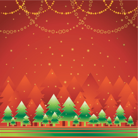 gradation: alder, card, christmas, decoration, eve, field, flake, forest, frame, gradation, green, greeting, holiday, illustration, light, merry, natural, nature, new, pine, print, red, sky, snow, snowflake, star, tree, vector, xmas, abstract,  color,  composition, beautiful, curve,  graphic, cartoon,  drawing, design, paint, picture, shape, clipart,  stylization, celebration
