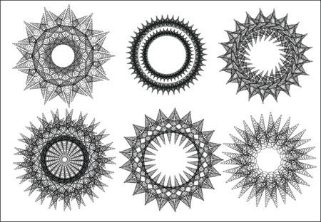 oorkonde: zwart, grens, certificaat, certificatory, charter, cirkel, clipart, decoratie, decoratief, design, detail, element, frame, illustratie, sieraad, vector, vignet