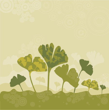 tree, leaf, stem, herb, green, ginko, curve, shape, color, plant, stalk, biloba, vector, circle, season, design, grunge, nature, natural, medical, graphic, drawing, clipart, scented, tracing, cartoon, medicine, abstract, separable, decoration, medication, creativity, background, silhouette, composition, stylization, illustration Stock Vector - 1155966