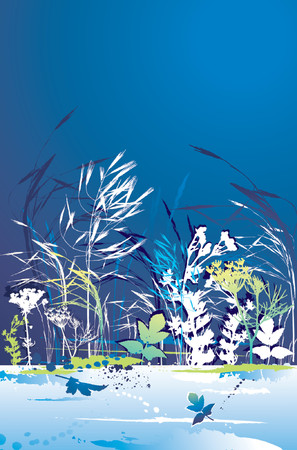 illustration, stylization, composition, silhouette, creativity, decoration, separable, abstract, cartoon, tracing, scented, clipart, drawing, graphic, natural, nature, grunge, design, season, fennel, vector, flower, stalk, plant, color, shape, grass, night, curve, green, herb, blue, corn, stem, dark, crop, dill, leaf, contour Stock Vector - 1155961