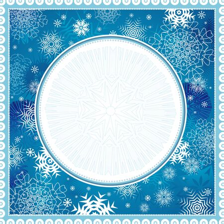 cold cartoon: blue, new, eve, cold, xmas, card, snow, year, flake, curve, paint, shape, small, frame, color, merry,  vector, letter, season, design, winter, nature, holiday, graphic, drawing, clipart, picture, cartoon, greeting, abstract, christmas, snowflake, beautiful, decoration, background, celebration, circle, border, composition, stylization, illustration