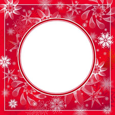 red, new, eve, cold, xmas, card, snow, year, flake, curve, paint, shape, small, frame, color, merry,  vector, letter, season, design, winter, nature, holiday, graphic, drawing, clipart, picture, cartoon, greeting, abstract, christmas, snowflake, beautiful, decoration, background, celebration, circle, border, composition, stylization, illustration