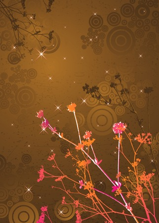 brilliancy: silhouettes of plants, vector