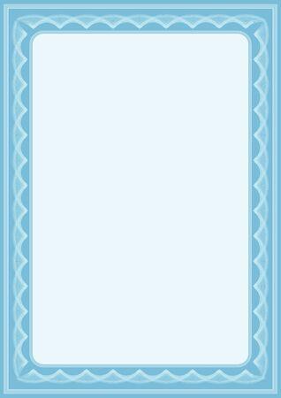 deed: azul vector certificado de antecedentes con muchas vi�etas
