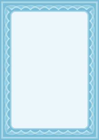 oorkonde: blauwe vector certificaat achtergrond met veel vignetten