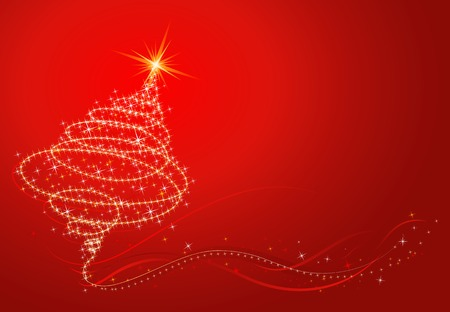 lustre: shining christmas tree, vector illustration