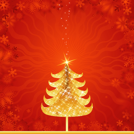 year curve: new, eve, tree, star, xmas, card, pine, print, red, curve, light, paint, shape, color, merry, alder, vector, design, winter, nature, natural, holiday, graphic, drawing, clipart, colors, picture, cartoon, greeting, trimming, abstract, radiance, gradation, christmas, beautiful, decoration, composition, stylization, illustration, New Year, decorative, ornament, light, art,  background,  design, brilliance, lustre, coruscation, magic , magical, fairy, miraculous, yellow, brilliancy, coruscation, light, golden, gold, texture, shining, snowflakes, flakes