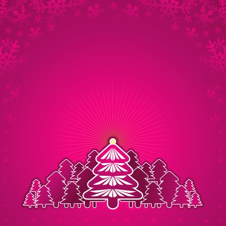 tree trimming: new, eve, tree, star, xmas, card, pine, snow, print, pink, flake, curve, light, paint, shape, color, forest, merry, alder, vector, design, winter, nature, natural, holiday, graphic, drawing, clipart, colors, picture, cartoon, greeting, trimming, abstract, radiance, gradation, christmas, snowflake, beautiful, decoration, composition, stylization, illustration, New Year, circle, decorative,  light, landscape, art,  design, brilliance, lustre, coruscation, magic , magical, fairy, miraculous, brilliancy, coruscation, light, frame, background Illustration