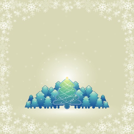 christmas card, vector Stock Vector - 1736046