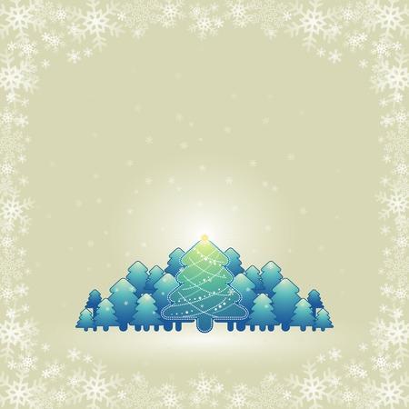 alder: christmas card, vector
