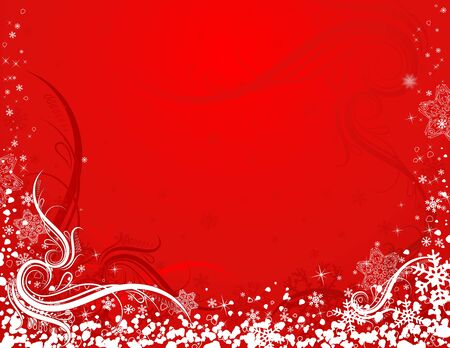 christmas background rojo, ilustraci�n vectorial