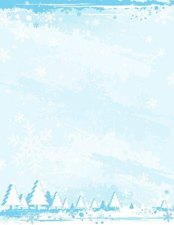 alder: blue grunge christmas background, vector illustration