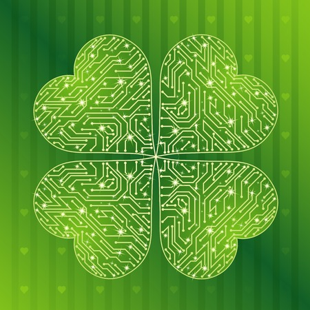 17th march: background with  green clover for St. Patricks Day