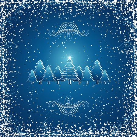 christmas forest, vector Stock Vector - 1921521