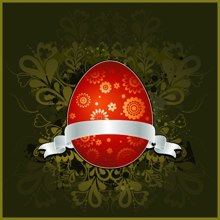 pasch: easter egg over green background