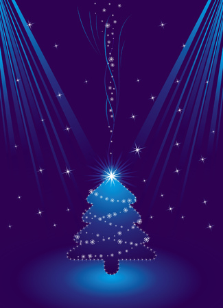 blue christmas card, vector Stock Vector - 1989691