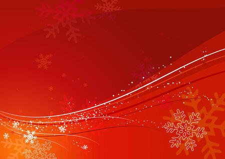 red christmas background, vector illustration Vector