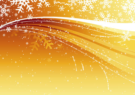 gold christmas background, vector illustration Vector