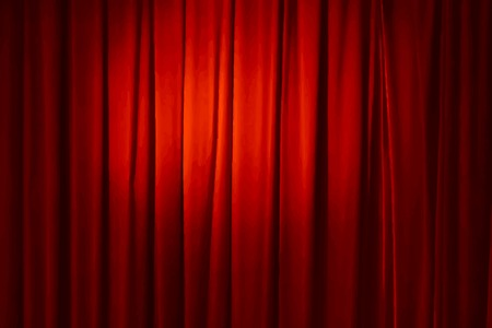 red curtain, vector illustration Vector
