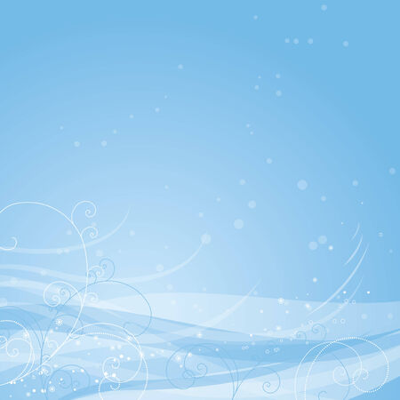 holiday picture: blue christmas background, vector Illustration