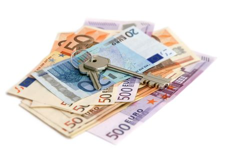 euro banknotes with keys Stock Photo - 2403650