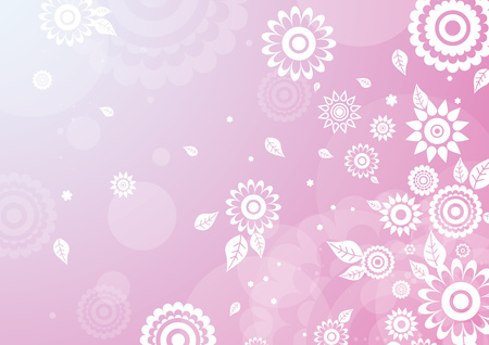 stylization: background with flowers, vector