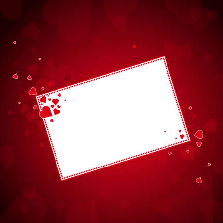valentines background with hearts, vector Stock Vector - 2506113