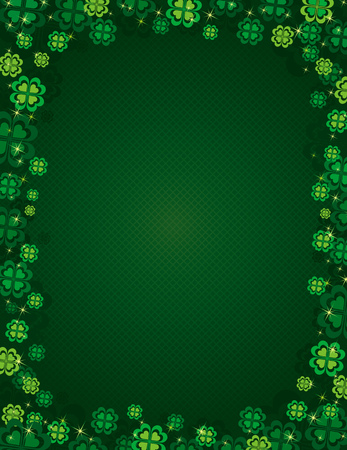 earthenware: background for St. Patricks Day