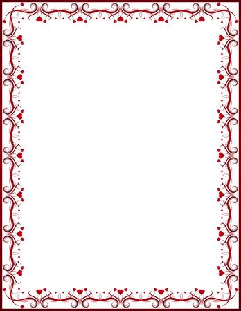 red certificate background, vector Vector