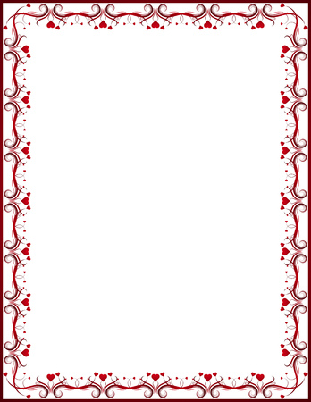 diploma border: red certificate background, vector