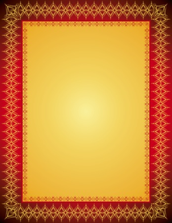 holiday border: golden certificate background, vector