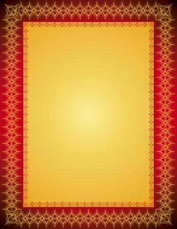 bilderrahmen gold: Golden Zertifikat Hintergrund, Vektor