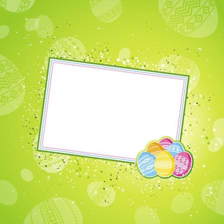 pasch: colore uova di Pasqua su sfondo verde