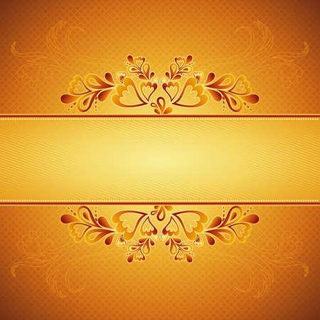 golden modern background, vector illustration Vector