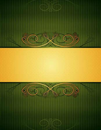 green antique background, vector illustration